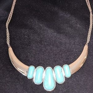 Jewelry - Silver and turquoise Collar Necklace